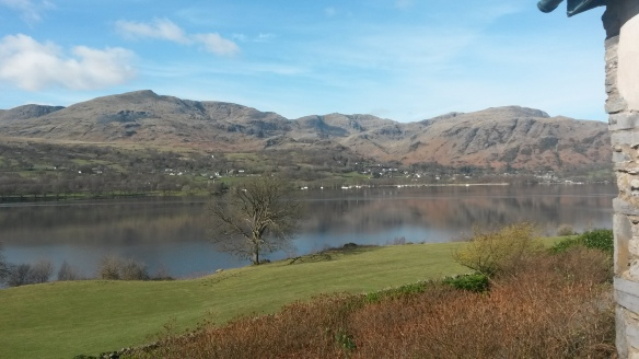 The Old Man, Coniston Water and fells - 10 March 2014